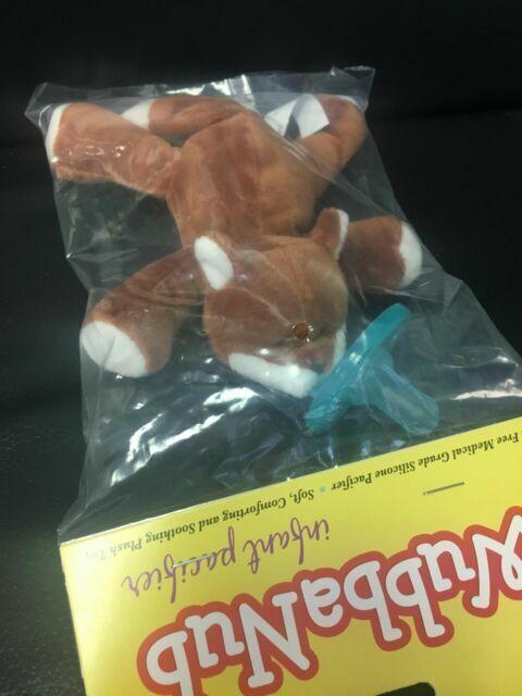 WubbaNub Infant Baby Soothie Pacifier Fox Brand New Authentic Wubbanub