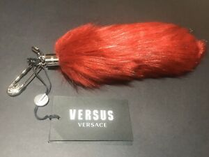versus bag charm tail safety pin versace