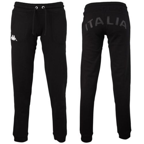 1102 XS WOMAN ITALIE RUGBY FIR TROUSERS LADY SUIT TROUSERS FITNESS GYM BLACK