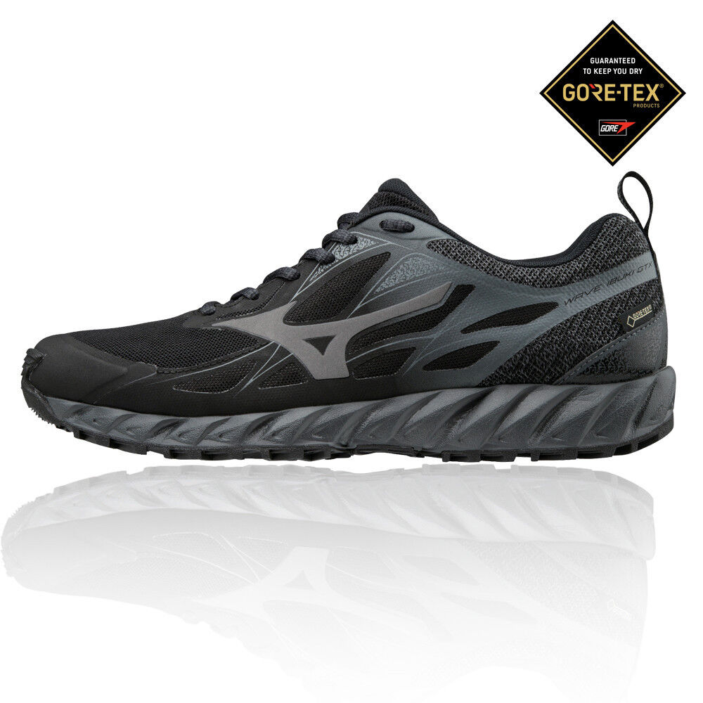 Mizuno Hombre Wave Ibuki Gore-tex Sendero Correr Zapatos Zapatillas Negro