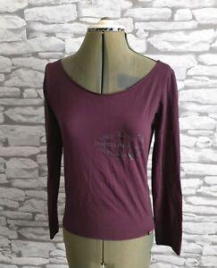 CALVIN-KLEIN-burgundy-top-tee-t-shirt-L-12-uk