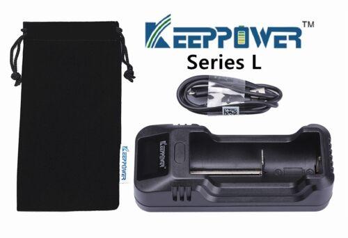 KeepPower L1 Intelligente LCD Ladegerät für Lithium Ionen Akkus
