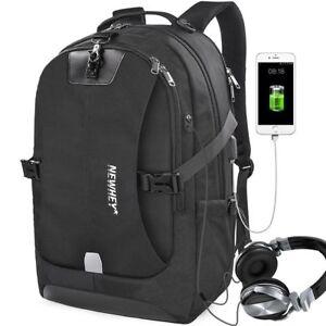 Sac-a-Dos-Pare-Solei-Cartes-de-Banque-Impermeable-avec-Port-Charge-USB-17-034-Noir