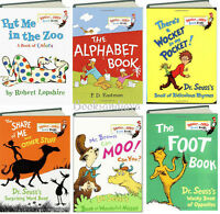 Dr. Seuss Mr Brown Can Moo,wocket Pocket,put Me In The Zoo,shape Brd Bk Lot Set