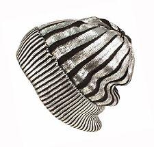 Argento Metallizzato Nuova Caldo Cappello Beanie Nero