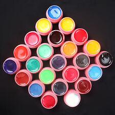 24 PCS Mix Colors Pearl UV Builder Gel Acrylic Nail Art Sets for Nail Tips Pink