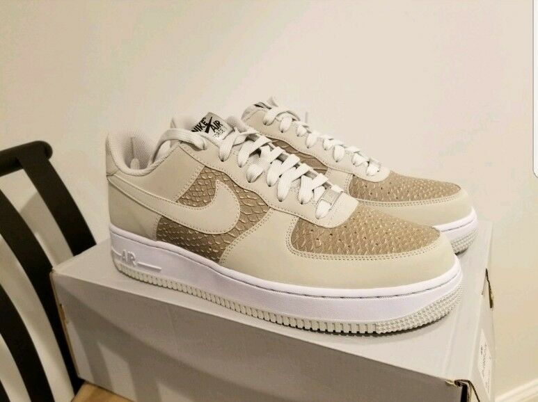 Nike Air Force 1- Lght Ash Grey Lght Ash Grey-White, 488298 055, Size 9, NEW