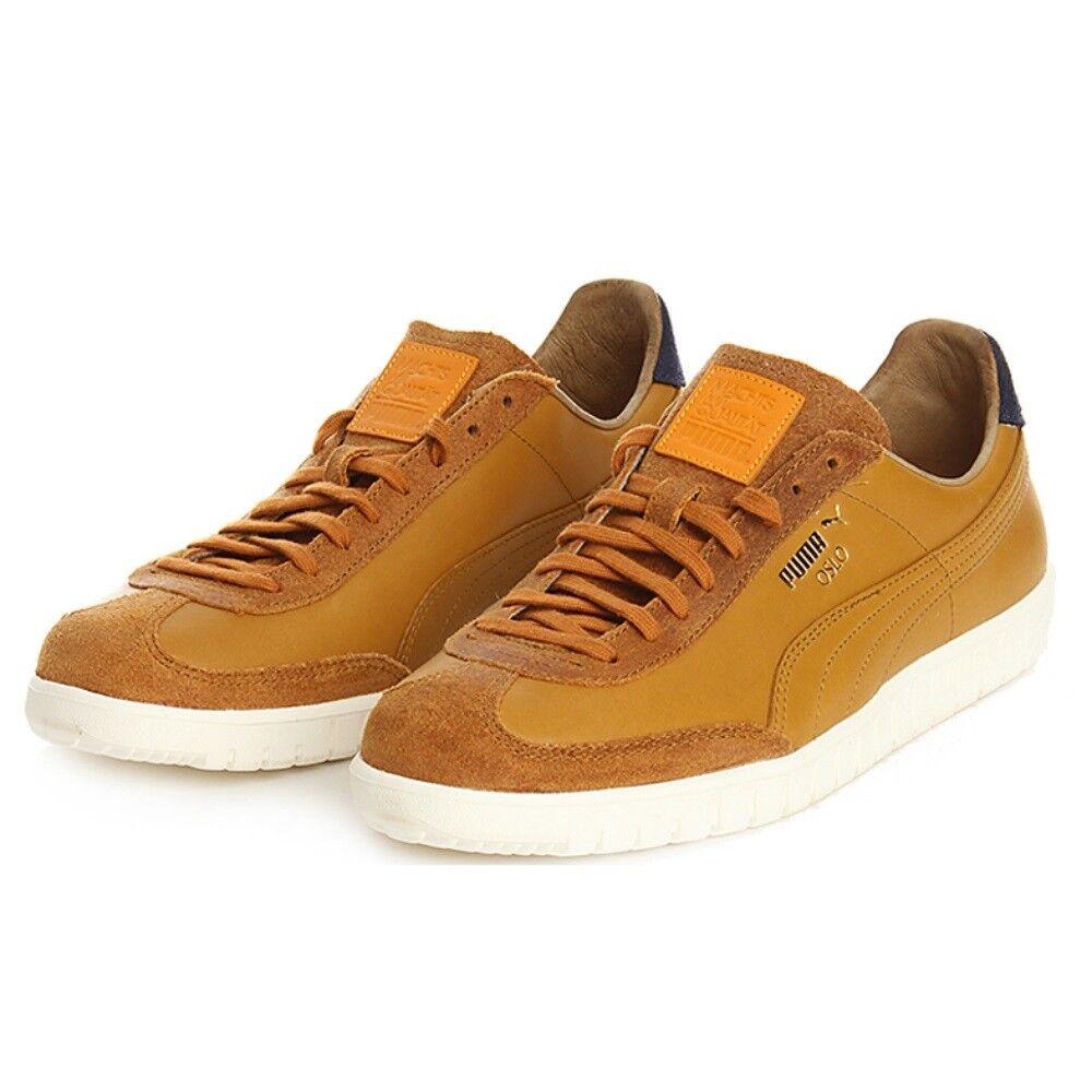 Scarpe casual da uomo  Puma scarpe sneakers in pelle e camoscio modello Oslo senape