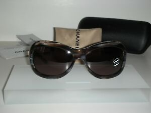 bf48753f4 Image is loading Brand-New-Chanel-5116Q-Sunglasses-Brown