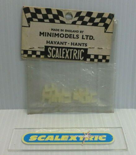 SCALEXTRIC Tri-Ang vintage années 1960 A247 Blanc Nylon Lane//Bordure Clips X 12 Entièrement neuf sous emballage