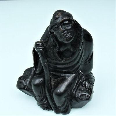 FleißIg Alte Asiatische Holz Skulptur / Figur 171115 Wohl Japan / China? HüBsch Und Bunt