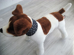 Jeans-Schal-Halstuch-Umfang-22-27cm-Druckknopf-verstellbar-Hund-Hundebekleidung