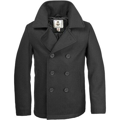 4484f4acff5 Details about SCHOTT NYC PEA COAT US NAVY 740N CLASSIC MELTON WOOL 32 Oz Sz  42 MADE IN USA