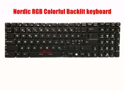 Nordic keyboard for MSI GE62 2QE//GE62 2QF//GE62 6QD//GE62 6QE//GE62 6QF Apache Pro
