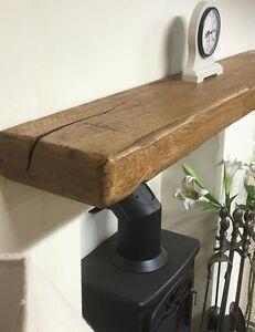 timeless design 76c37 d724c Details about Solid Rustic Oak Floating Shelf/Mantle (8