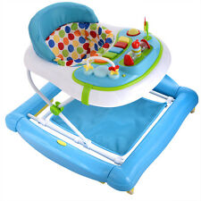 Newly Infant&Baby Trend Walker Musical Activity Play Tray Learn First Step Blue