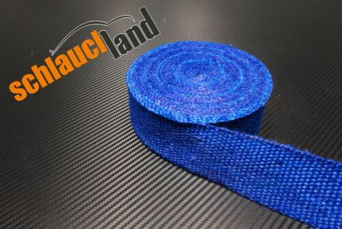 15m fibre de verre chaleur ruban 50mm bleu 800 ° C *** Heat wrap turbo matières coudes