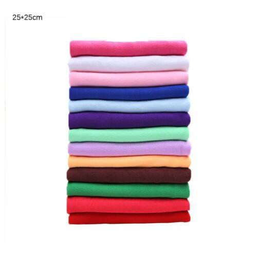 2//510 Pcs Lot Mixed Color Microfiber Car Cleaning Towel Kitchen Washing Polish.