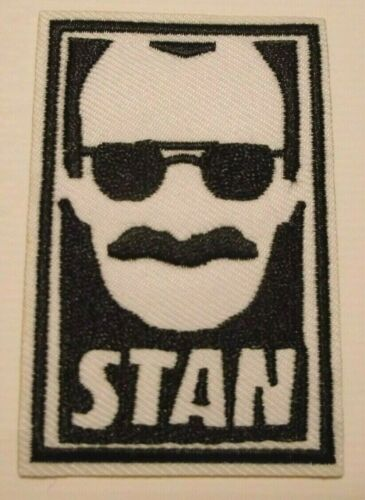 """Stan Lee~Marvel Comics~Avengers~Embroidered Patch~3 1//8/"""" x 2/""""~Iron or Sew On"""