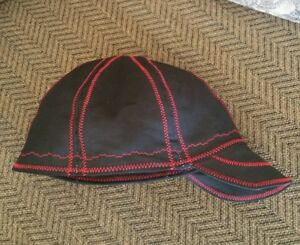 wendys welding hat made with black and red stitching new ebay