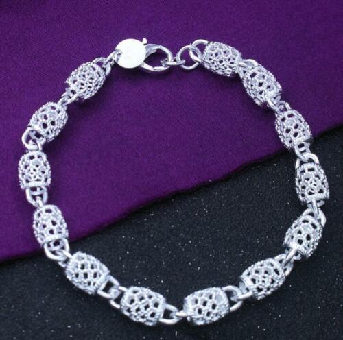 925 Argent Rétro Chaîne Femmes Cadeau Bracelet Fashion Charme Bijoux Mariage LH040