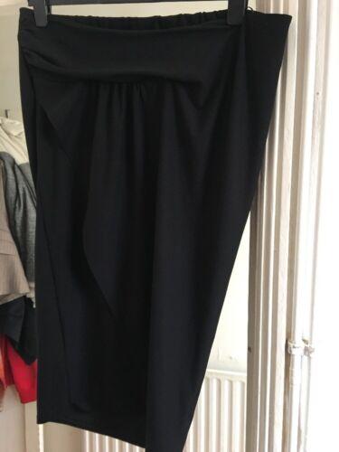 BNWT Next Size 14 Maternity Black Stretch Skirt RRP £24
