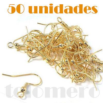 manualidades finding 50x GANCHOS DE pendientes zarcillos COLOR ORO PLATA COBRE