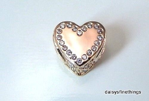 Authentic PANDORA Dedication Essence Rose Gold Charm 7968630cz With Tags
