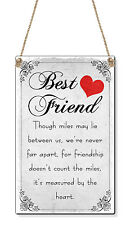 Miles Between Us Best Friend Birthday Present Gift Small ( C Card Size) Plastic