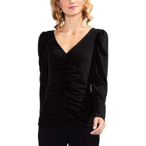 Vince Camuto Womens Black Long Sleeves Pull Shoulder Blouse Top L BHFO 2858