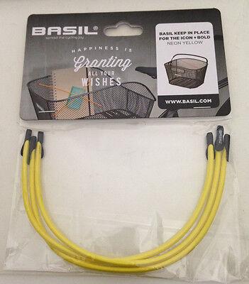 Rad BASIL keep in place Spannband für Körbe neon gelb 50447 - NEU