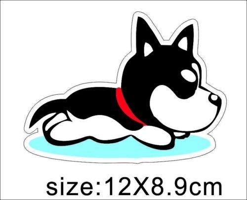 Running Dog Funny Vinyl Car Window Bumper Motorcycle Skateboard Decal Sticker