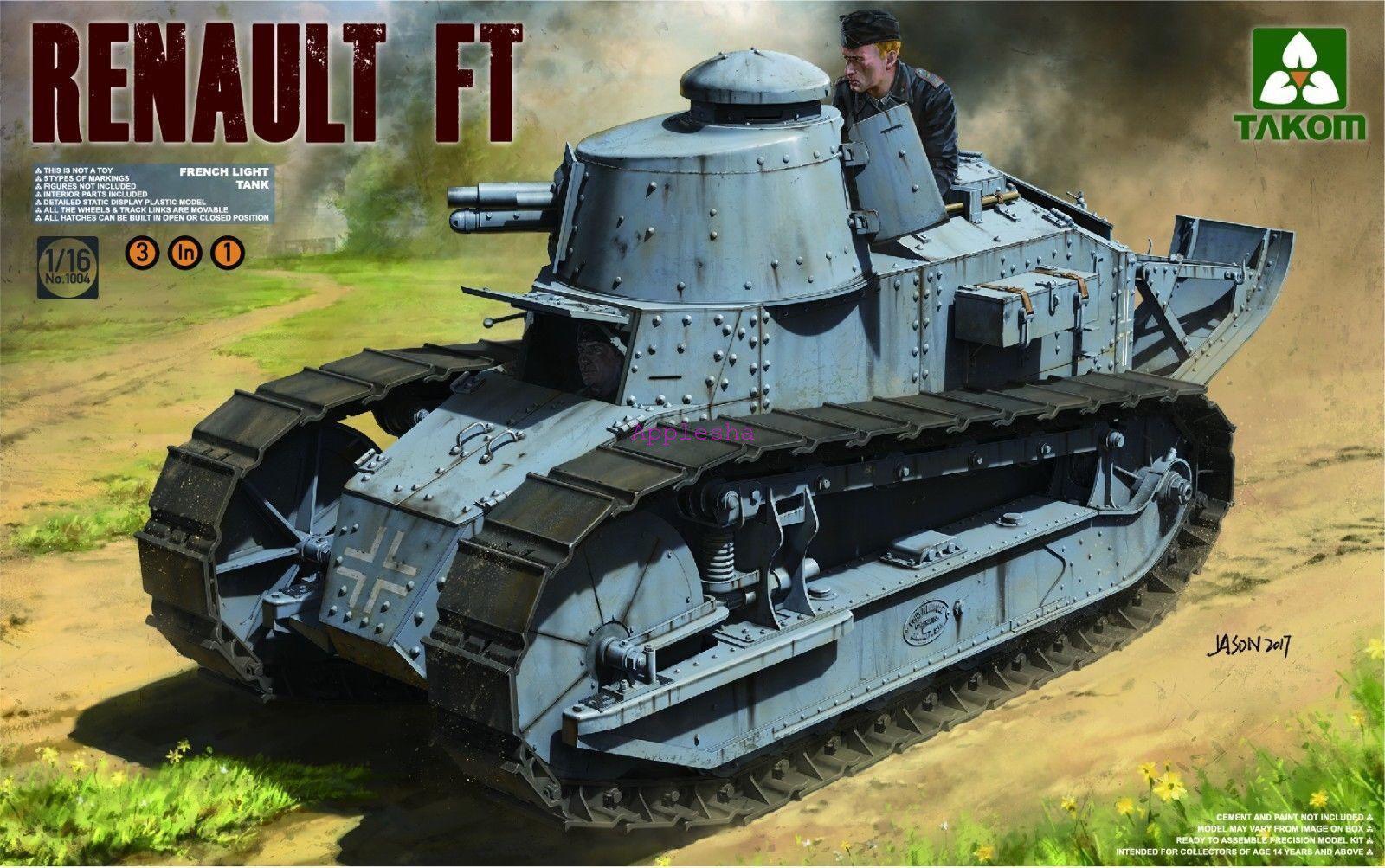 Takom 1004 1 16 French Light Tank Renault FT