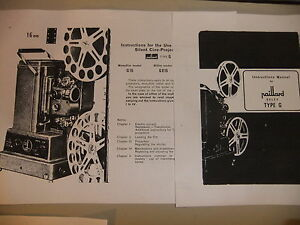 Instructions-cine-movie-projector-PAILLARD-BOLEX-Type-G3-G816-G16-CD-Email