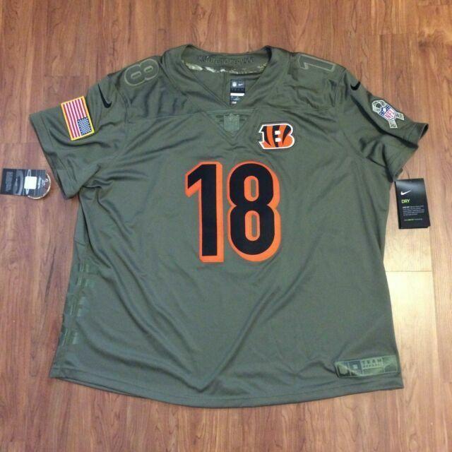 Nike A.j. Green Cincinnati Bengals Womens Salute to Service Jersey 2xl