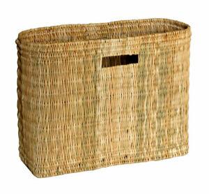 Natural-Wicker-Bulrush-Toilet-Roll-Holder-Wine-Holder-Shopping-Basket-Ex-Large