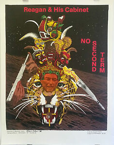 Reagan-Poems-by-Allen-Cohen-Signed-by-Cohen-Original-1984-Poster