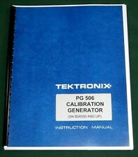 Tektronix Pg 506 Instruction Manual With 11x17 Foldouts Amp Protective Covers