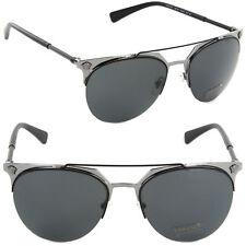 e8c79aedcee Authentic Versace VE2181-100187 Pilot Sunglasses Matte Black-Gunmetal Grey  Lens