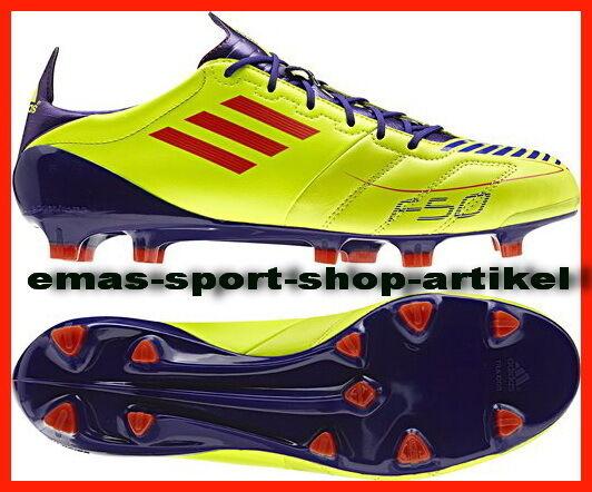 adidas F50 Adizero TRX FG Leder gelb Fussballschuhe 48