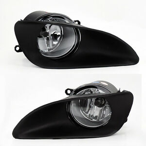 Front-Bumper-Clear-Fog-Lights-Lamps-w-Switch-for-Toyota-Yaris-06-11-4dr-Sedan