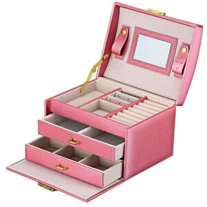 3-Layers-Mirror-PU-Leather-Jewelry-Box-Storage-Case-Organizer-with-Drawer-Handle