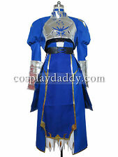 Fate Zero Saber Armor Cosplay Costume Deluxe Version E001