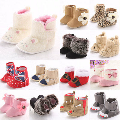 Newborn Soft Sole Baby Girl&Boy Anti-slip Baby Snow Boots Infant Crib Shoes