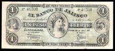 El Banco de Jalisco 1 Peso Fuerte 1.20.1914, M377a / BK-JAL-4. Scarce. VF.