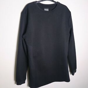 Nana-Judy-Women-039-s-Black-Crew-Neck-Long-Sleeve-Pullover-Sweater-Size-L