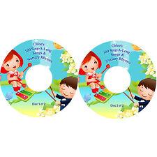 100 Sing-A-Long Nursery Rhymes & Children's Songs on 2 CDs Personalised Labels