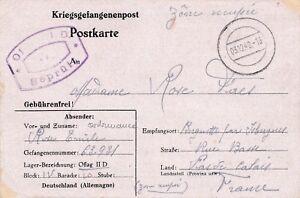 Carte-Stalag-III-A-Luckenwalde-Voir-dos-see-back-Brief-Germany-War