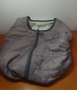 9e8c37f07ec Eddie Bauer Gray Fleece Infant Baby Carrier Car Seat Cover Vented