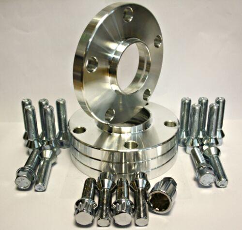 Pernos /& cerrojo de bloqueo apto para VW T5 Furgoneta 4 X 25 mm Separadores de Rueda 72.6-65.1